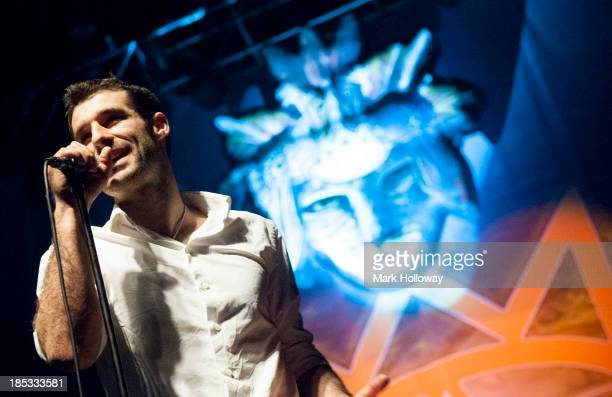 Felix Riebl of Cat Empire performs on stage at O2 Academy on October 18, 2013 in Bournemouth, England.