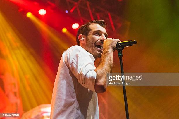 Felix Riebl of The Cat Empire performs on stage at O2 Academy Leeds on April 7 2016 in Leeds England