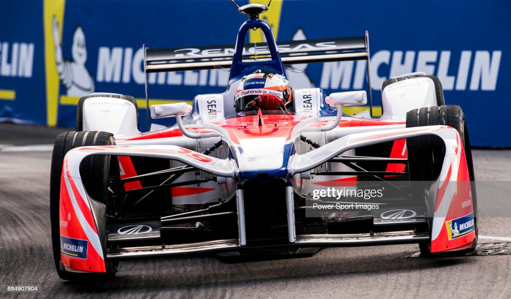 Felix Rosenqvist of Sweden from Mahindra Racing competes during the FIA Formula E Hong Kong E-Prix Round 2 at the Central Harbourfront Circuit on 03 December 2017 in Hong Kong, Hong Kong.