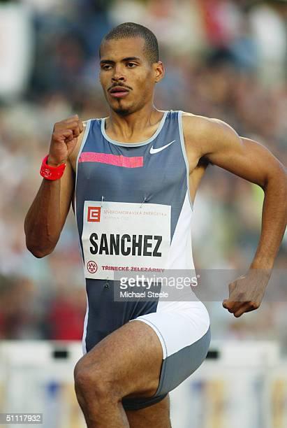 Felix Sanchez of the Dominican Republic pictured during the Men's 400 metres Hurdles race at the IAAF Golden Spike meet in Ostrava Czech Republic
