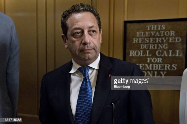 Felix Sater former business associate of President Donald Trump stands in the US Capitol before a closeddoor testimony to the House Intelligence...