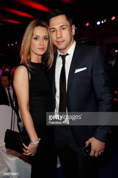 Felix Sturm and his wife Jasmin Sturm attend the Laureus Media Award 2012 on November 05, 2012 in Kitzbuehel, Austria.