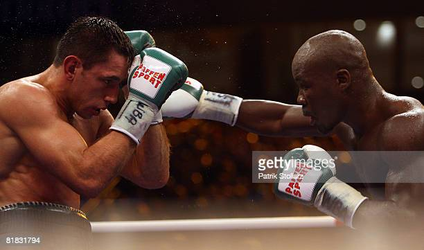 Felix Sturm of Germany in action during the WBA middleweight world championship fight against Randy Griffin of United States of America at the Gerry...