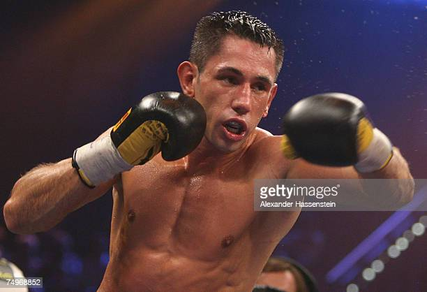Felix Sturm of Germany in action during the WBA World Championship fight between Felix Sturm of Germany and Noe Tulio Gonzales Alcoba of Uruguay...