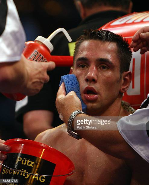 Felix Sturm of Germany looks on during the WBA middleweight world championship fight against Randy Griffin of United States of America at the Gerry...