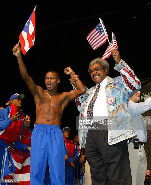 Felix 'Tito' Trinidad with Don King weighing in for his fight with Ricardo 'El Matador' Mayorga The two will meet on Saturday Night at Madison Square...