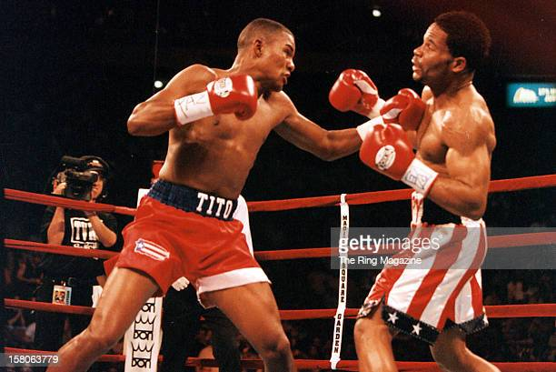 Felix Trinidad lands a left punch against William Joppy during the fight at Madison Square Garden on May 12 New York New York Felix Trinidad won the...