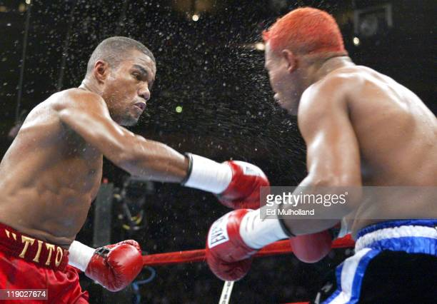 Felix Trinidad lands a short right to the head of Ricardo Mayorga at Madison Square Garden In an explosive display of power Trinidad scored an eighth...
