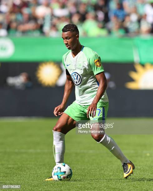Felix Uduokhai of Wolfsburg runs with the ball during the Bundesliga match between VfL Wolfsburg and Borussia Dortmund at Volkswagen Arena on August...