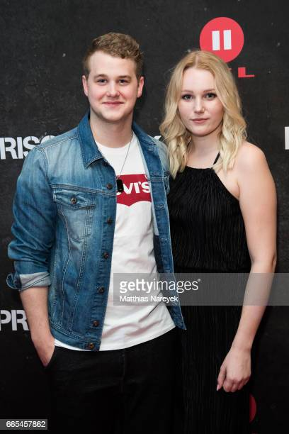 Felix van Deventer and Vivien Radigk attend the 'Prison Break' Berlin Premiere on April 6 2017 in Berlin Germany