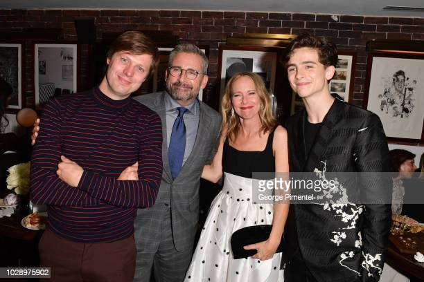 Felix Van Groeningen Steve Carell Amy RyanÊand Timothee Chalamet attend the 'Beautiful Boy' Afterparty Hosted by Amazon Studios and Hugo Boss during...