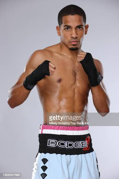 Felix Verdejo poses for portraits inside the bubble at the MGM Grand on December 10, 2020 in Las Vegas, Nevada.