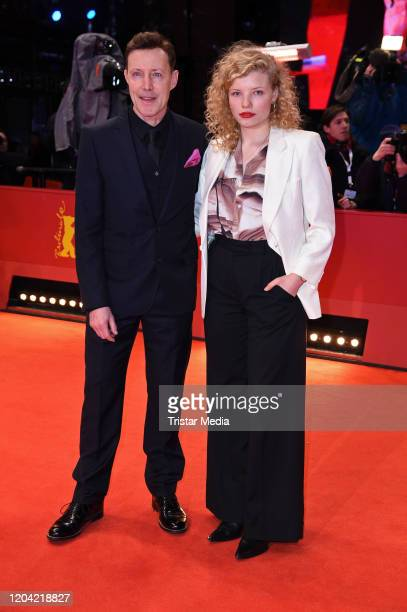 Felix von Bredow and LuisaCeline Gaffron arrive for the closing ceremony of the 70th Berlinale International Film Festival Berlin at Berlinale Palace...