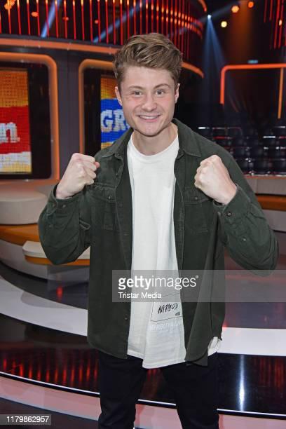 Felix von der Laden aka Dner during the ARD TV show Klein gegen Gross at Studio Adlershof on November 3 2019 in Berlin Germany