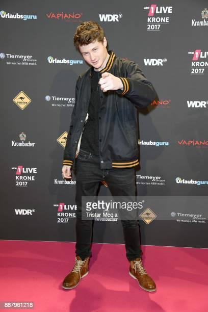 Felix von der Laden attends the 1Live Krone radio award at Jahrhunderthalle on December 7, 2017 in Bochum, Germany.