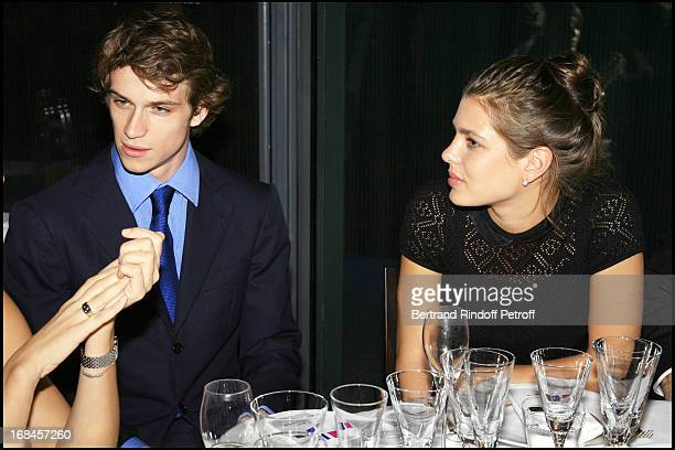 Felix Winckler and Charlotte Casiraghi Private visit of the exhibition launch Yves Klein Corps Couleur Immateriel followed by a dinner to the benefit...