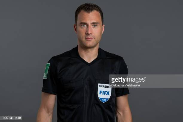 Felix Zwayer poses during the DFB Referees Portrait Session on July 18 2018 in Grassau Germany