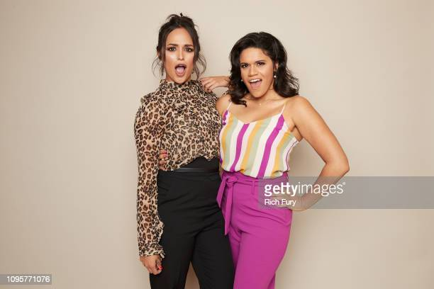 Feliz Ramirez and Justina Adorno of ABC's 'Grand Hotel' pose for a portrait during the 2019 Winter TCA Getty Images Portrait Studio at The Langham...