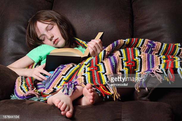 fell asleep - barefoot redhead stock photos and pictures
