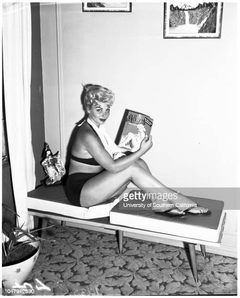 Fell from tree 29 May 1958 Shirley Houser model and actressCaption slip reads 'Photographer Wesselmann Date Reporter Gregory Assignment Girl hurt in...