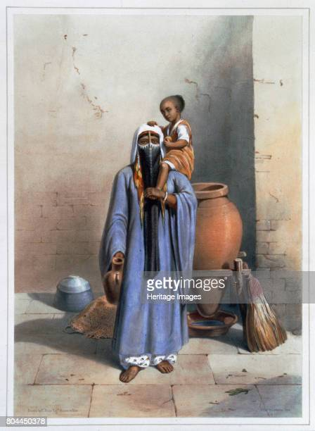 Fellah woman and child 1848 A fellah is a peasant farmer or agricultural labourer in Egypt and the Middle East Illustration from The Valley of the...