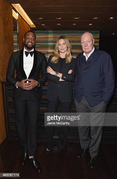 Fellow brand ambassador Dwyane Wade Model Bar Refaeli and President LVMH Watches and Chairman Hublot JeanClaude Biver attend as Hublot announces...