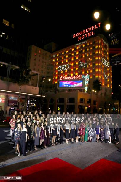 Fellows arrive at AFI FEST 2018 for the World Premiere of 'On The Basis of Sex' presented by Audi at The TCL Chinese Theatre in Los Angeles on...