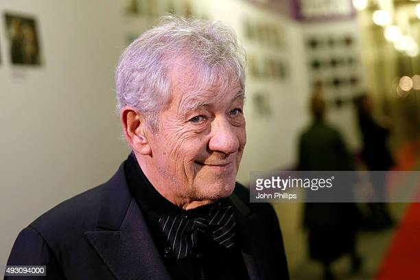 Fellowship Presenter Sir Ian McKellen attends the BFI London Film Festival Awards at Banqueting House on October 17 2015 in London England