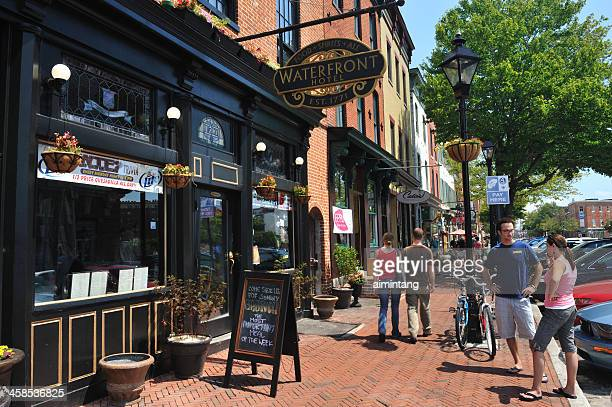 fells point in baltimore - baltimore stock photos and pictures