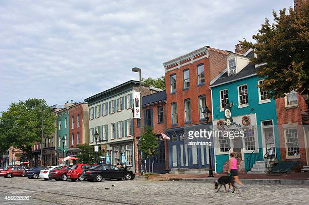 fell's point in baltimore - baltimore stock photos and pictures