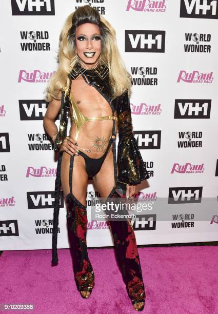 Felony Misdemeanor attends VH1's 'RuPaul's Drag Race' Season 10 Finale at The Theatre at Ace Hotel on June 8 2018 in Los Angeles California