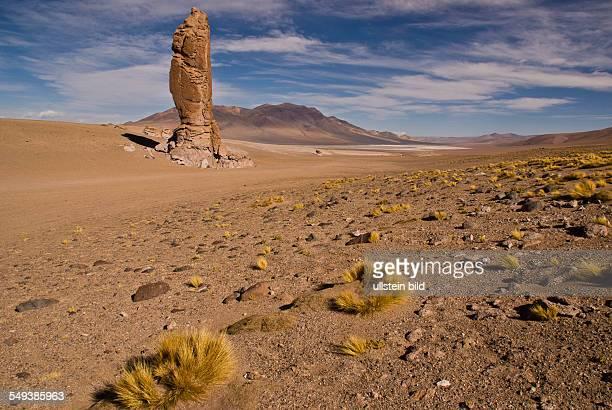Felsformation auf dem Weg zum Salar de Tara 100km oestlich von San Pedro de Atacama
