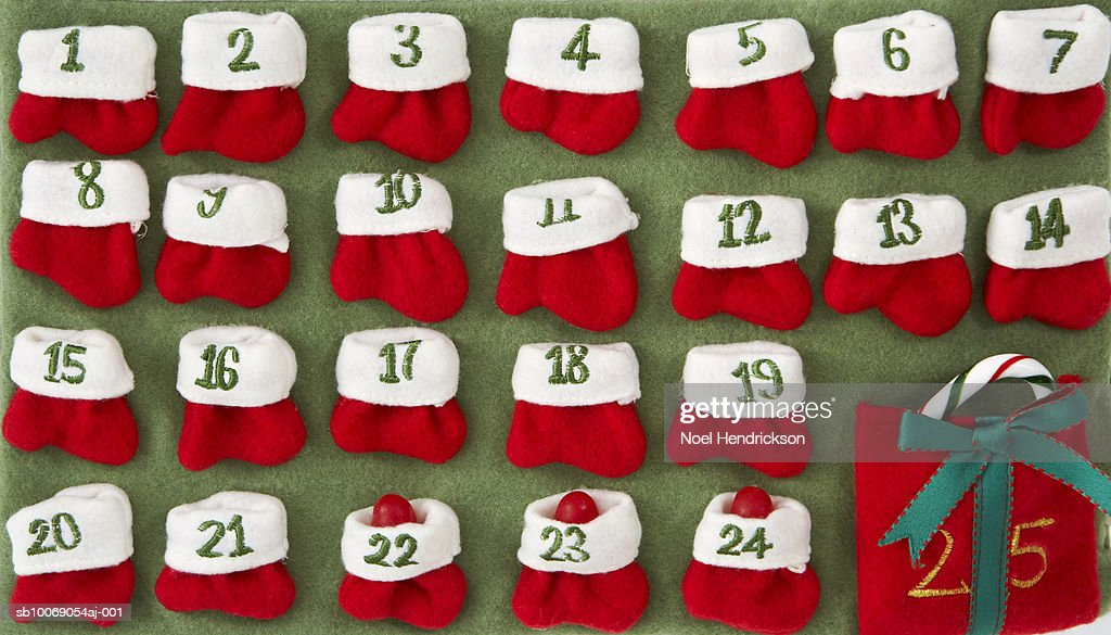 Felt advent calendar : Stockfoto