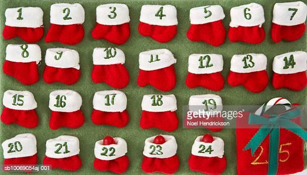felt advent calendar - advent calendar stock photos and pictures