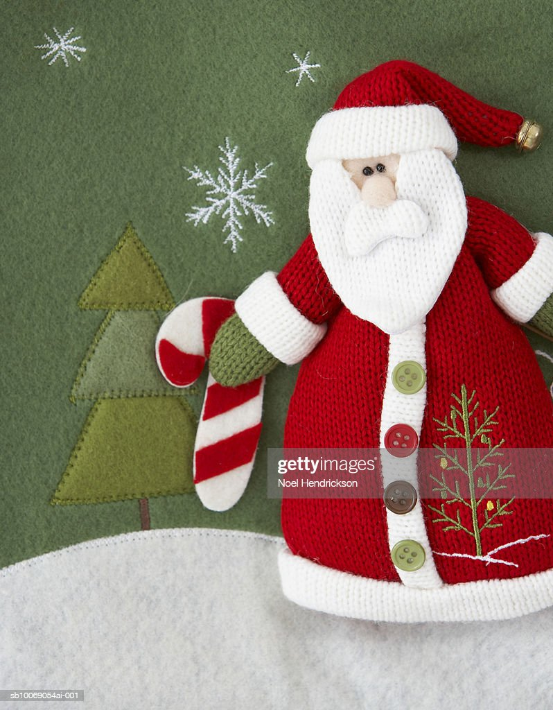 Felt Santa Claus : Stockfoto