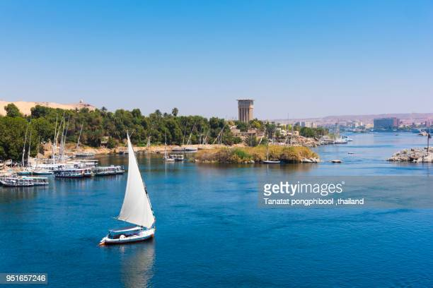 Felucca Boat on River Nile at Aswan, Egypt