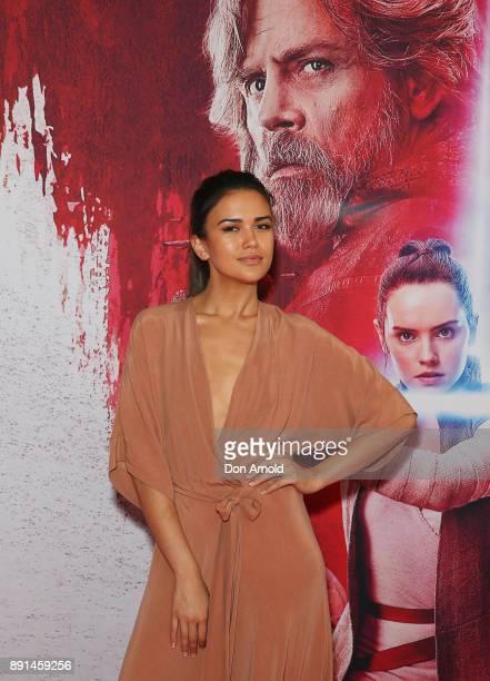Fely Irvine attends Star Wars The Last Jedi Sydney Screening Event on December 13 2017 in Sydney Australia