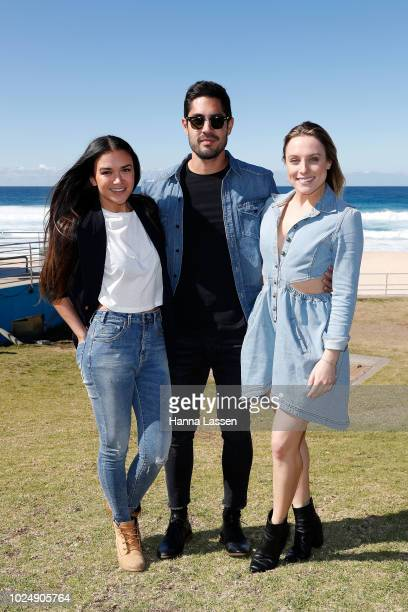 Fely Irvine Tai Hara and Casey Burgess attend the OneTeaspoon Fashion Launch on August 29 2018 in Sydney Australia