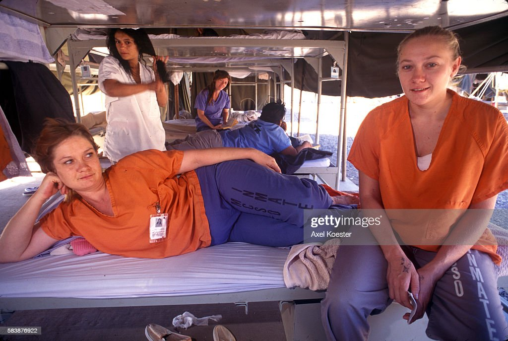 Femail prisoners spend time on their cots at Estrella Jail Tent City in Phoenix AZ  sc 1 st  Getty Images & USA - Crime - Prison System Pictures | Getty Images
