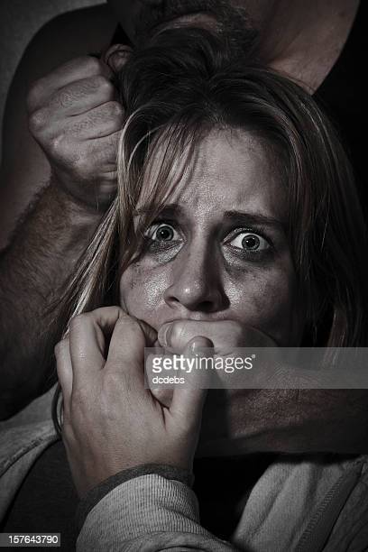 Female Abuse Victim Being Grabbed By Man