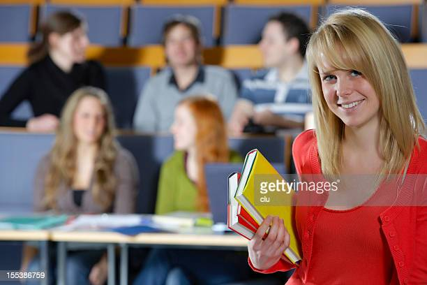 Female adult student portrait in lecture hall