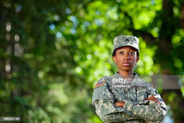 Female African American Soldier Series: Outdoor Portrait
