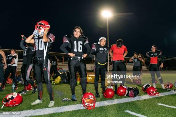 Allenamento femminile della squadra di football americano