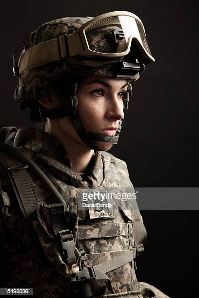 female american soldier - army stock pictures, royalty-free photos & images