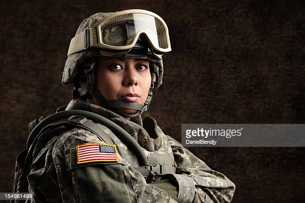 female american soldier - us military stock pictures, royalty-free photos & images