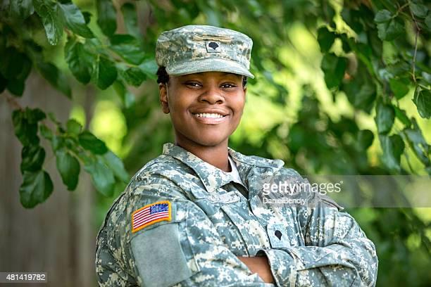 Femme soldat américain