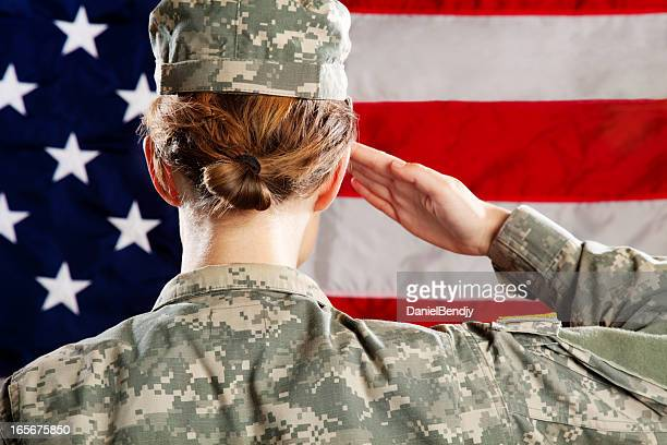 Female  American Soldier Series: Saluting