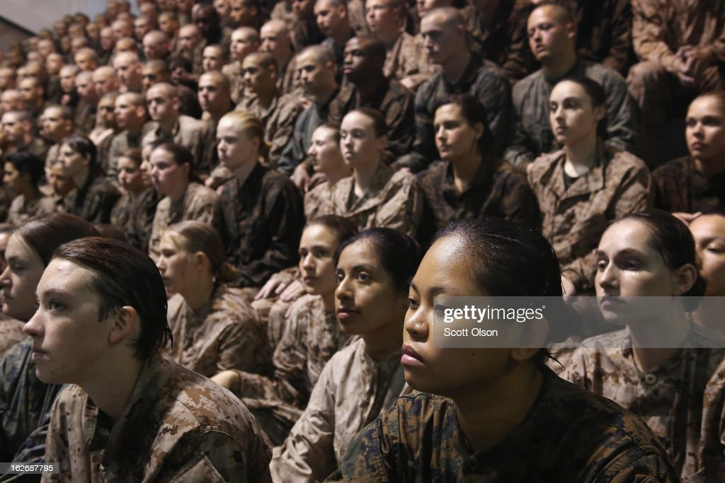 Women Attend Marine Boot Camp At Parris Island, South Carolina : News Photo