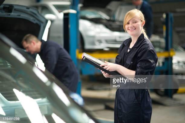 female apprentice mechanic