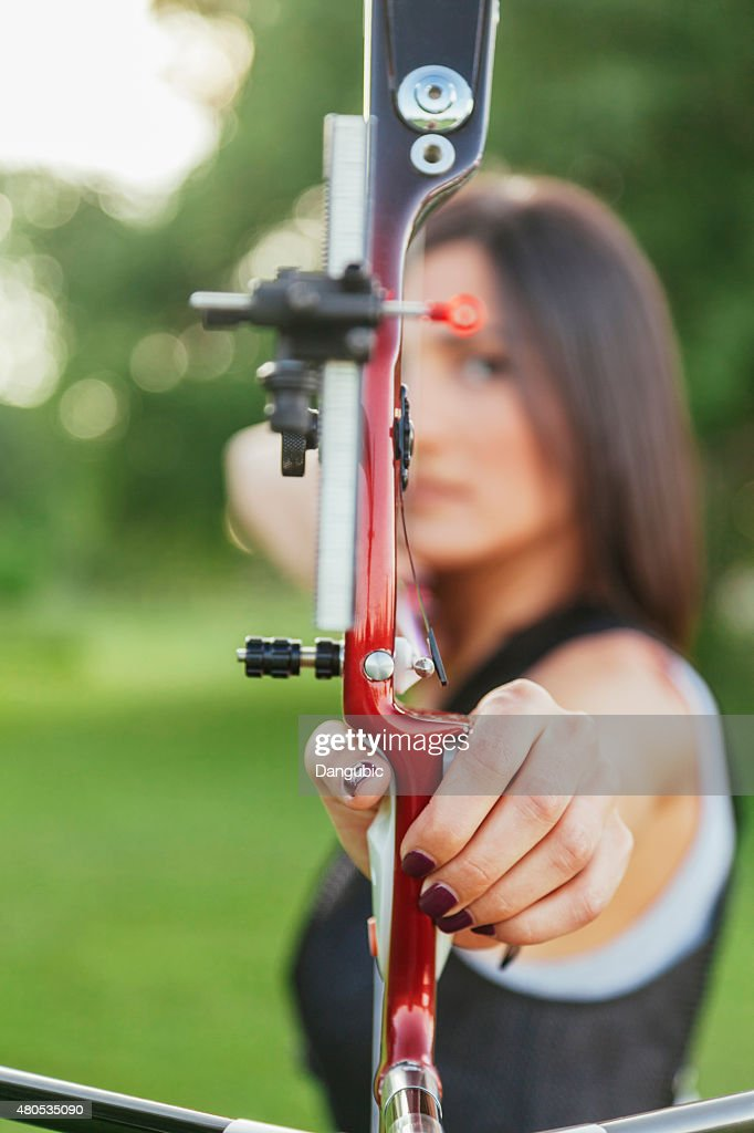 Female Archer : Stock Photo